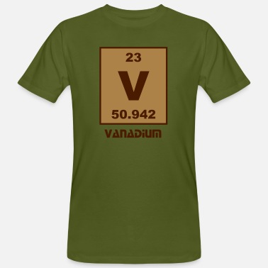 Vanadium Vanadium (V) (element 23) - Men's Organic T-Shirt