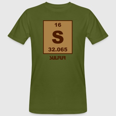 Sulfur (S) (element 16) - Men's Organic T-shirt