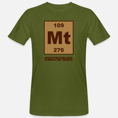 Mt Element Meitnerium (Mt) (element 109) - Men's Organic T-Shirt