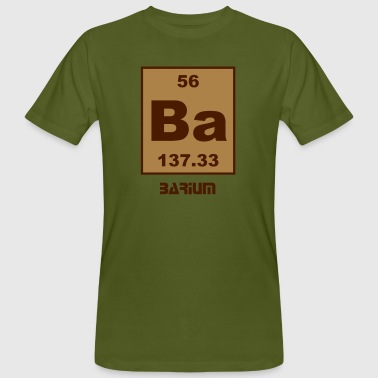 Barium (Ba) (element 56) - Men's Organic T-Shirt