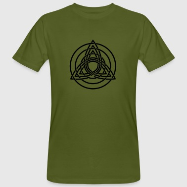 Triquetra, Germanic paganism, Celtic art, - Men's Organic T-shirt