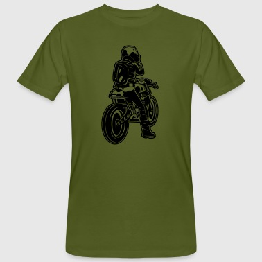 Cafe Racer Motorcycle 02_black - Men's Organic T-shirt
