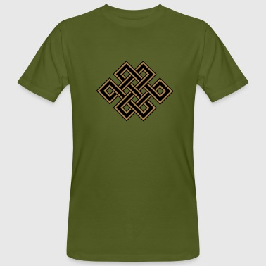 Tibetan endless knot, eternal, celtic, loop, luck - Men's Organic T-shirt