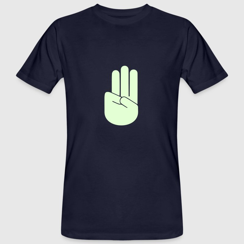 Scout sign and salute - Men's Organic T-shirt