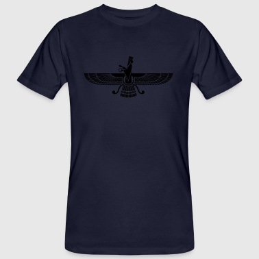 Faravahar, Zarathustra, Symbol of Higher Spirit - T-shirt ecologica da uomo