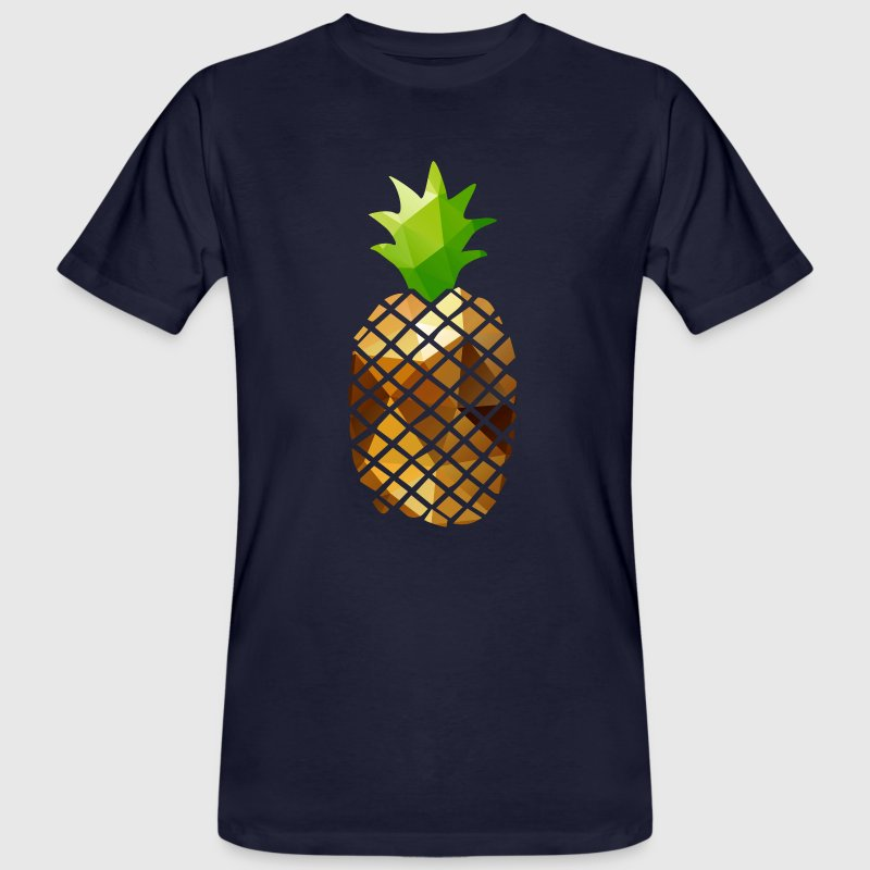 Pineapple (Low Poly) - Ekologisk T-shirt herr