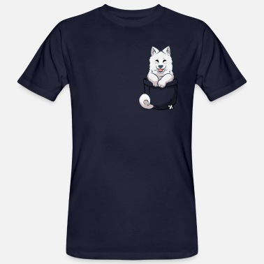 Sabaka Pocket Samoyed Puppy - Men's Organic T-Shirt