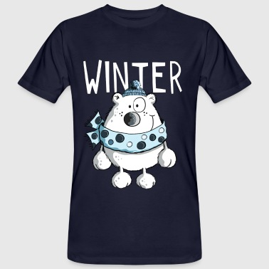 Winter Polar Bear - Christmas - Cartoon - Gift - Men's Organic T-shirt