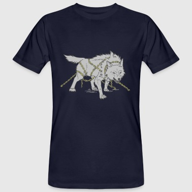 Old Norse Gray Wolf Fenrir Necklaces Walhalla Norse Legends - Men's Organic T-Shirt