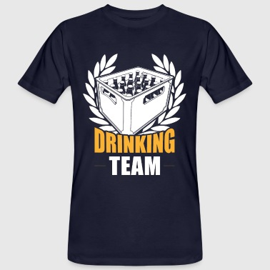 Drinking beer team drinking - Men's Organic T-Shirt