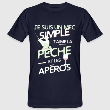 Pêche - un mec simple - T-shirt bio Homme