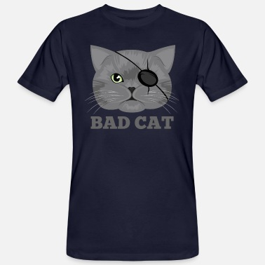 Eye Patch Cat with eye patch Cat - Men's Organic T-Shirt