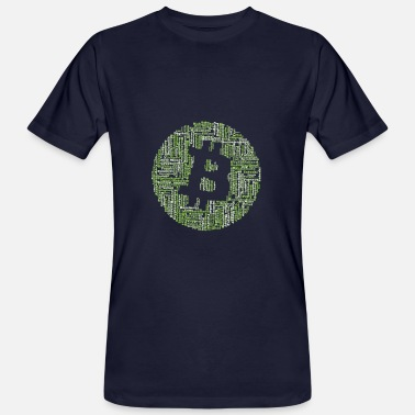Banking Bitcoin Cryptocurrency Blockchain icon 2 - T-shirt bio Homme