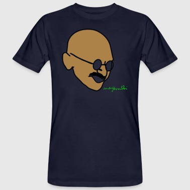 Gandhi Gandhi drawing with signature - Men's Organic T-Shirt
