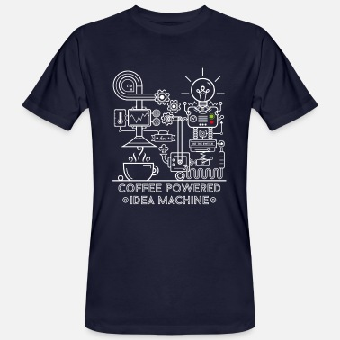Coffee powered Idea Machine - Camiseta ecológica hombre