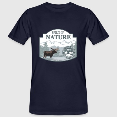 Spirit of Nature - British Columbia  moose - Männer Bio-T-Shirt
