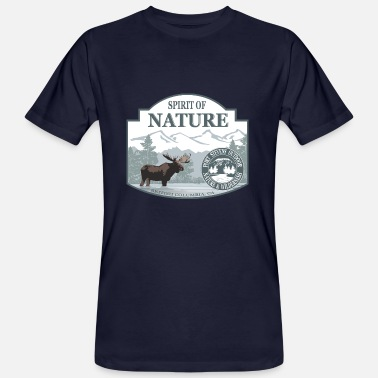 British Columbia Spirit of Nature - British Columbia  moose - Männer Bio T-Shirt
