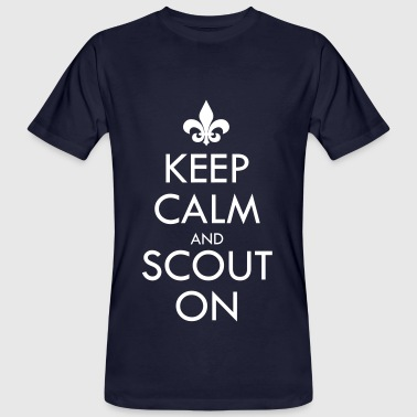 Keep Calm And Scout On - Mannen Bio-T-shirt