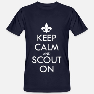 Boy Scout Motto Keep Calm And Scout On - Men's Organic T-Shirt