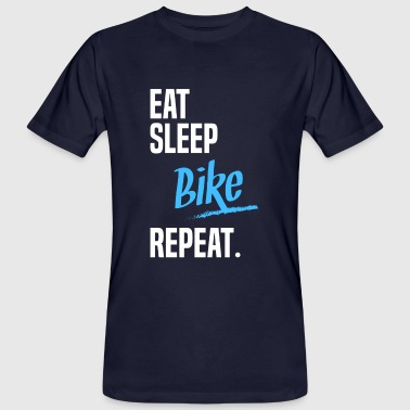 EAT SLEEP bike -2 - Økologisk T-skjorte for menn