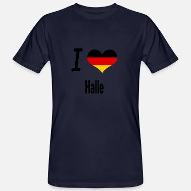 I Love Halle I Love Germany Home Halle - Männer Bio-T-Shirt