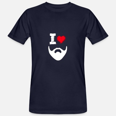 Love The Beard I love Beard beard beard beards heart love - Men's Organic T-Shirt