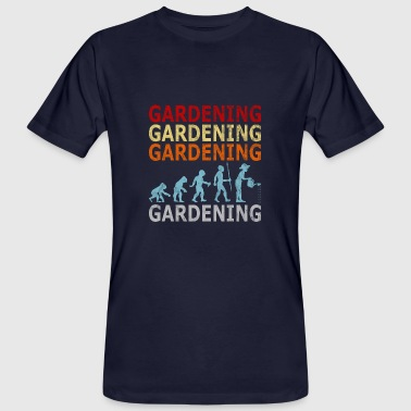 Gardening Evolution Retro Vintage Style Evolution Gardener Garden - Men's Organic T-Shirt