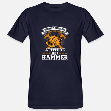 Bauwagen construction worker hammer - Männer Bio-T-Shirt