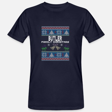 Butler Ugly Butler Christmas Family Vacation Tshirt - Men's Organic T-Shirt