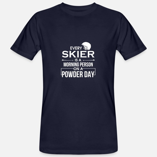 Ski T-Shirts - Ski Skiing Skier Skiing Ski Slope Winter - Men's Organic T-Shirt navy