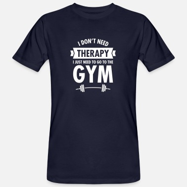 Funny Gym Therapy - Gym - Mannen Bio-T-shirt