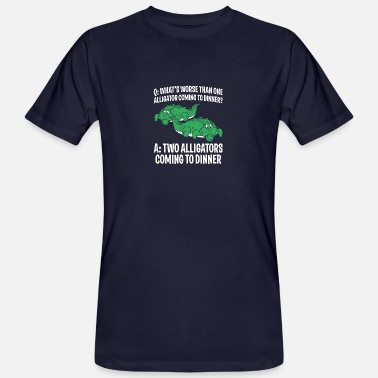 Cool Crocodile Design Quote Coming To Dinner - Men's Organic T-Shirt