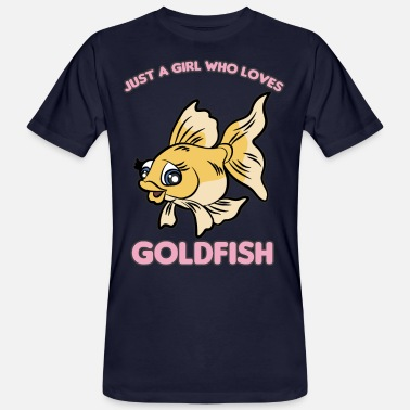 Goldfish JUST A GIRL WHO LOVES GOLDFISH - Men's Organic T-Shirt