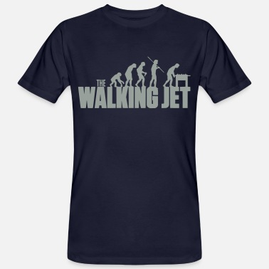 Jet the walking jet - Männer Bio T-Shirt