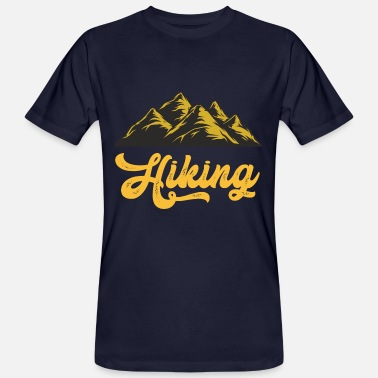 Hiking Hike Hiking Mountains Camping Holiday Camping - Men's Organic T-Shirt