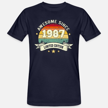 1987 Awesome Since 1987 - Männer Bio T-Shirt