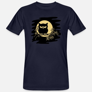 Ast OWL AST night Moon - Men's Organic T-Shirt