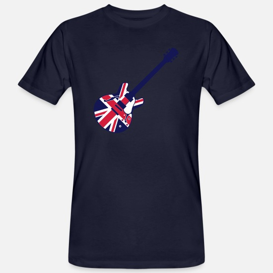Guitar T-Shirts - union jack guitar - Men's Organic T-Shirt navy