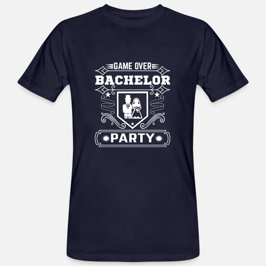 Party Machen T-Shirts - Game Over Bachelor Party - Männer Bio T-Shirt Navy