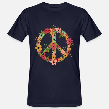 Flower Power Fred Hippie Flower Power - Ekologisk T-shirt herr