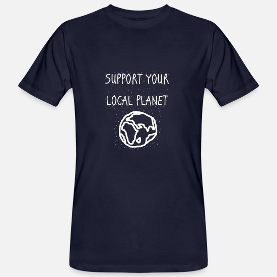 Support T-Shirts - support your local planet - Männer Bio T-Shirt Navy