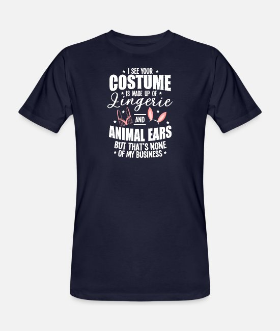 Meme T-Shirts - Halloween Sexy Ears Underwear Costume Gifts - Men's Organic T-Shirt navy