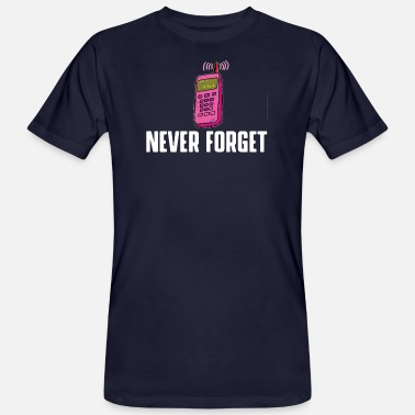 Never forget - VHS, floppy disk, CD - Men's Organic T-Shirt