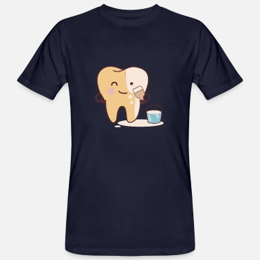 Blanchiment des dents Blanchiment des dents blanches - T-shirt bio Homme