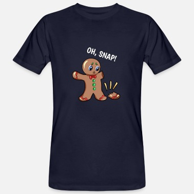 Gingerbread Man Oh Snap Gingerbread Man - Men's Organic T-Shirt