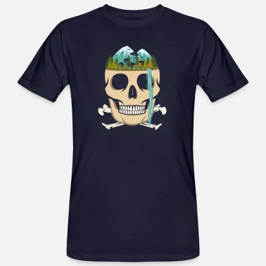 Surreal Skull Waterfall - Surreal - Ekologisk T-shirt herr
