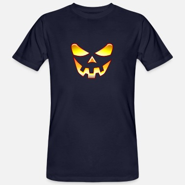 Halloween pumpkin face - Men's Organic T-Shirt
