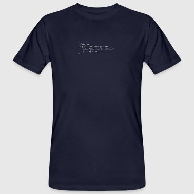 Hamlet: To be, or not to be - Männer Bio-T-Shirt