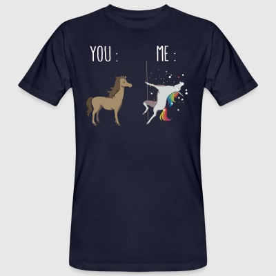 You and me Unicorn pole dancing - Men's Organic T-shirt