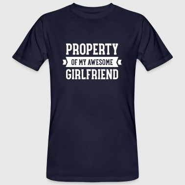 Property Of My Awesome Girlfriend - Männer Bio-T-Shirt